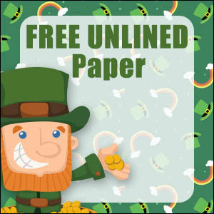 printable st patricks day stationery free