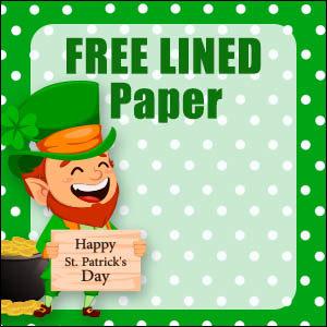 printable st patricks day stationery free