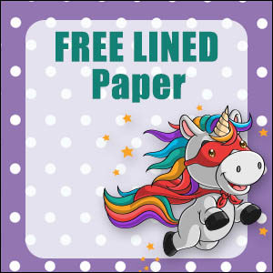 Cute Unicorn Stationery - Lined 8