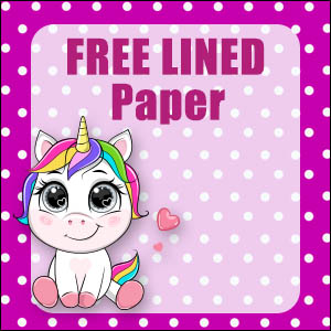 Cute Unicorn Stationery - Lined 8