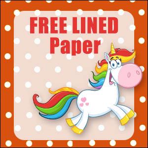 printable unicorn stationery free
