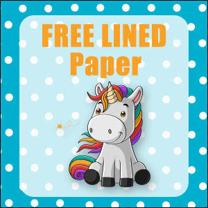 printable unicorn stationery free
