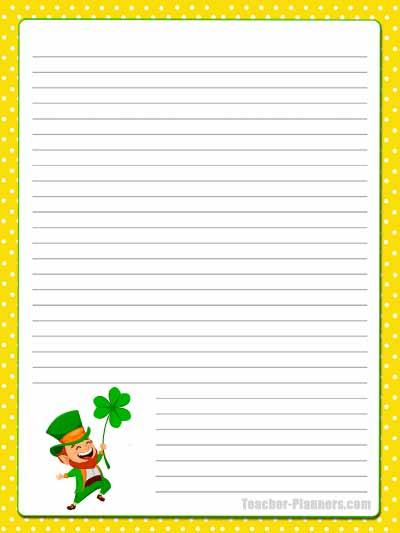 St Patrick's Day Stationery