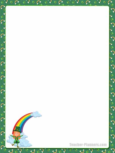 St Patrick's Day Stationery - Unlined