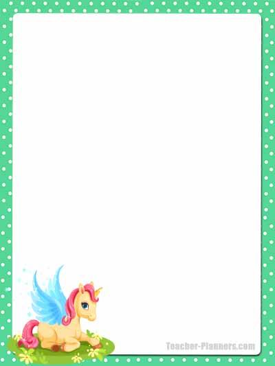 Cute Unicorn Stationery - Unlined 12