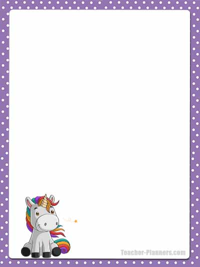 Cute Unicorn Stationery - Unlined 13