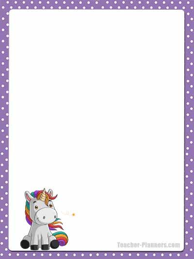 Cute Unicorn Stationery - Lined 13
