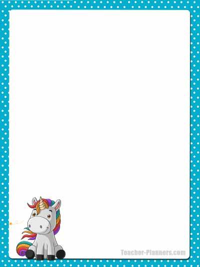 Cute Unicorn Stationery - Unlined 3