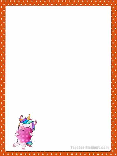 Cute Unicorn Stationery - Unlined 4