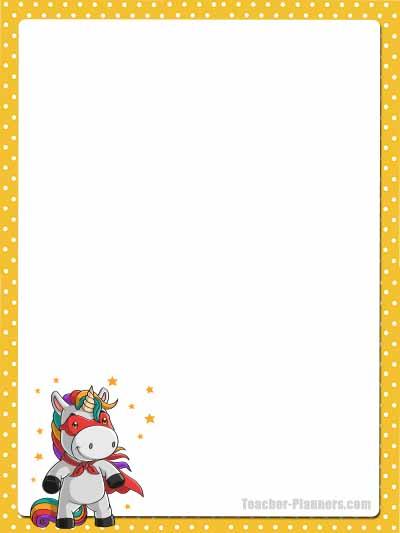 Cute Unicorn Stationery - Unlined 5