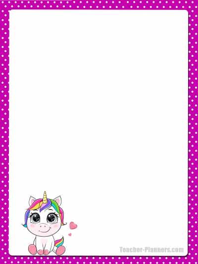Cute Unicorn Stationery - Unlined 8