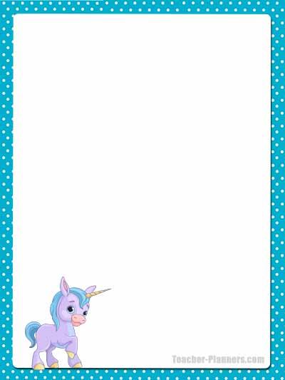 Cute Unicorn Stationery - Unlined 9