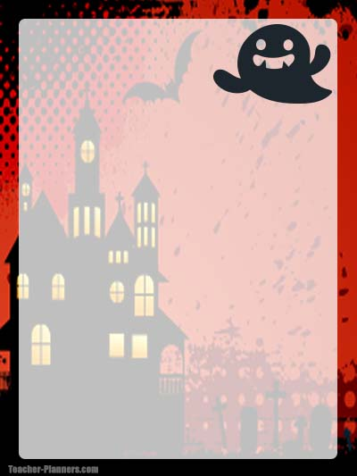 Halloween Stationery 6 - Unlined