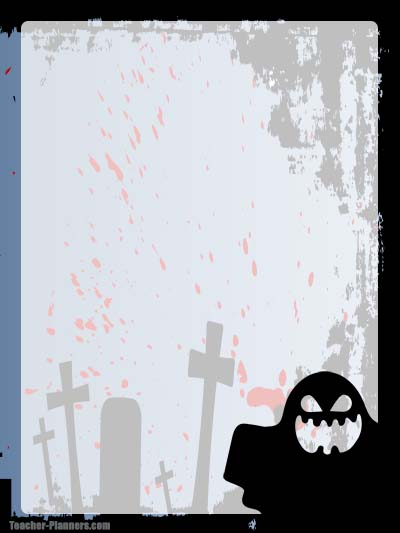 Halloween Stationery 3 - Unlined