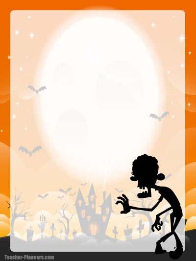Halloween Stationery 8 - Unlined