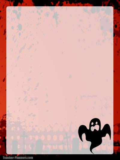 Halloween Stationery 5 - Unlined