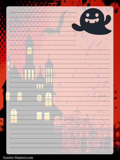 Halloween Stationery -  Free & Printable