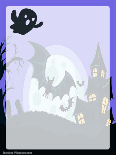 Halloween Stationery 7 - Unlined
