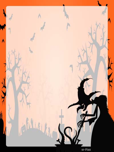 Halloween Stationery 11 - Unlined
