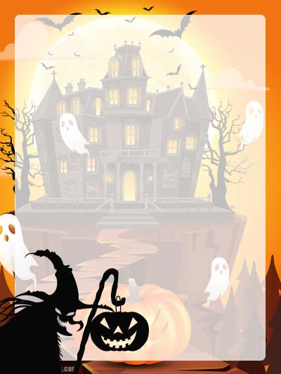 Halloween Stationery 10 - Unlined